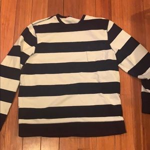 *Slightly Worn* Izod Navy and White Striped Long T